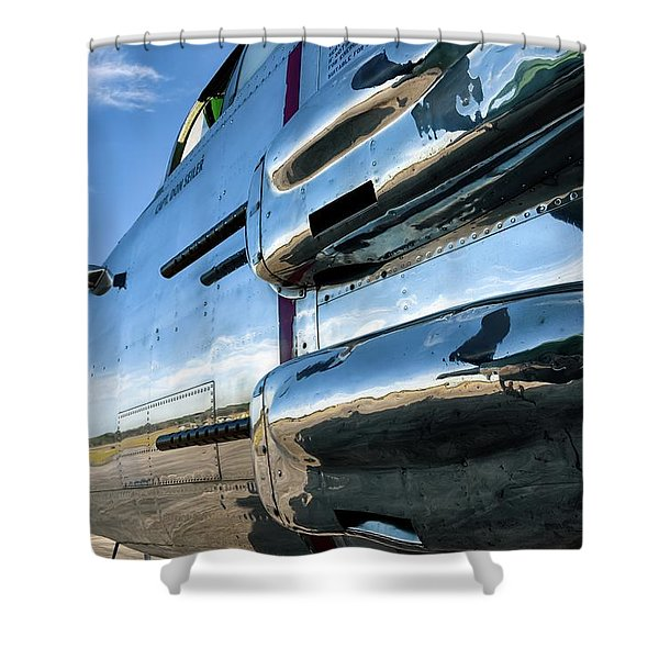 Reflections Of Panchito - 2017 Christopher Buff, Www.aviationbuff.com Shower Curtain