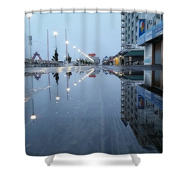 Reflections Of The Boardwalk Shower Curtain