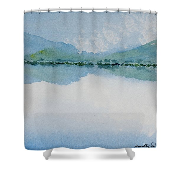 Reflections Of The Skies And Mountains Surrounding Bathurst Harbour Shower Curtain