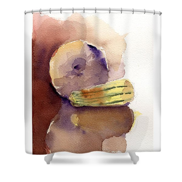 Reflections On A Winter Squash Shower Curtain