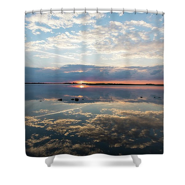 Reflections Over Back Bay Shower Curtain