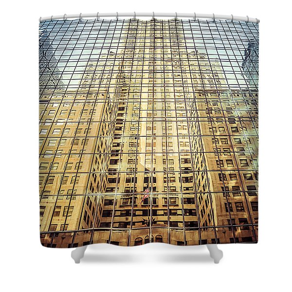 Reflective Empire Shower Curtain
