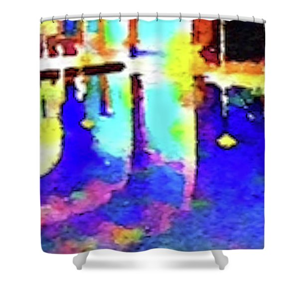 Reflective Pool Hearst Castle Shower Curtain