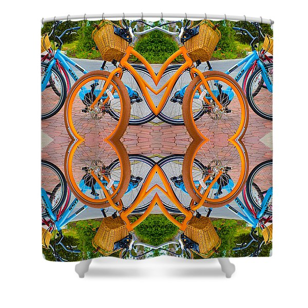 Reflective Rides Shower Curtain