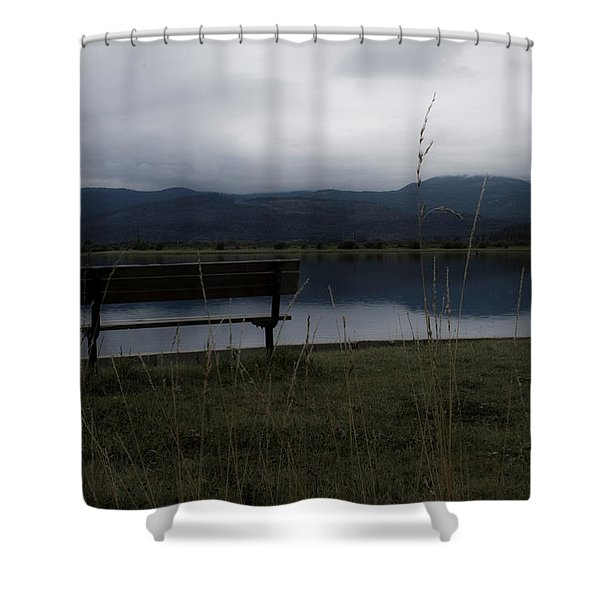 Reflective Solitude Shower Curtain