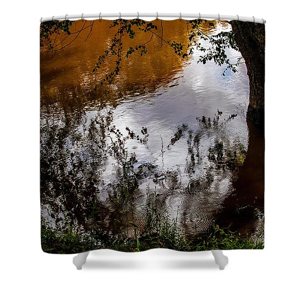 Refraction And Reflection Shower Curtain