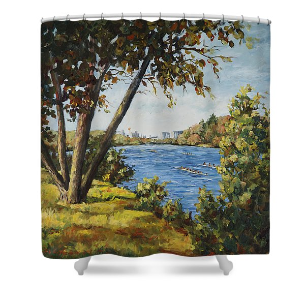 Regatta On The Rock River Shower Curtain