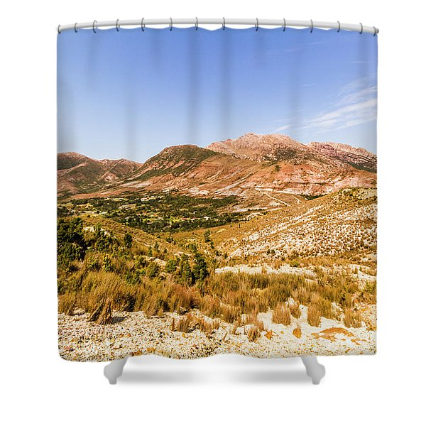 Regional Ruggedness Shower Curtain