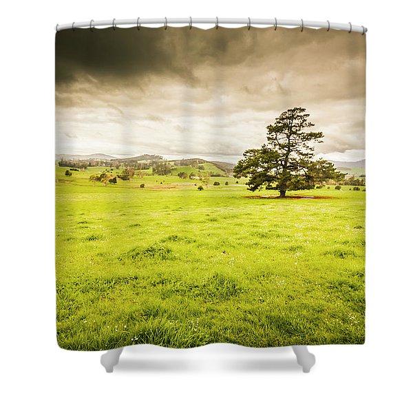 Regional Rural Land Shower Curtain