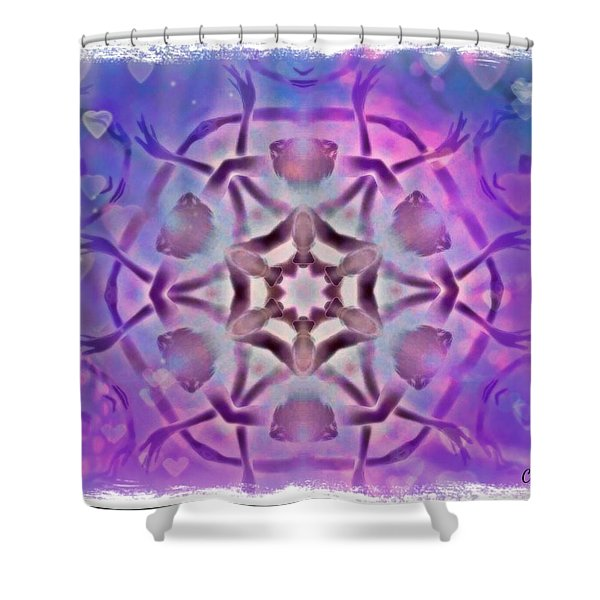 Reiki Infused Healing Hands Mandala Shower Curtain