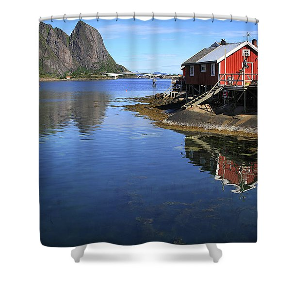 Reine, Norway Shower Curtain