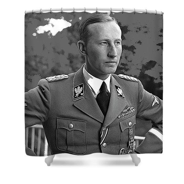 Reinhard Heydrich Circa 1940 Color Added 2016 Shower Curtain