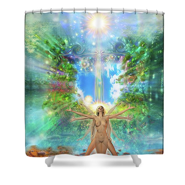 Rejoice-thy-young II Shower Curtain
