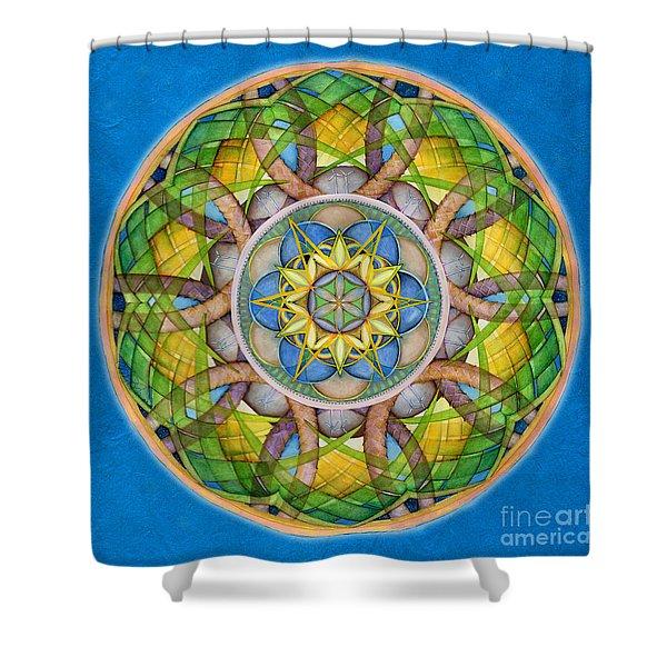 Rejuvenation Mandala Shower Curtain