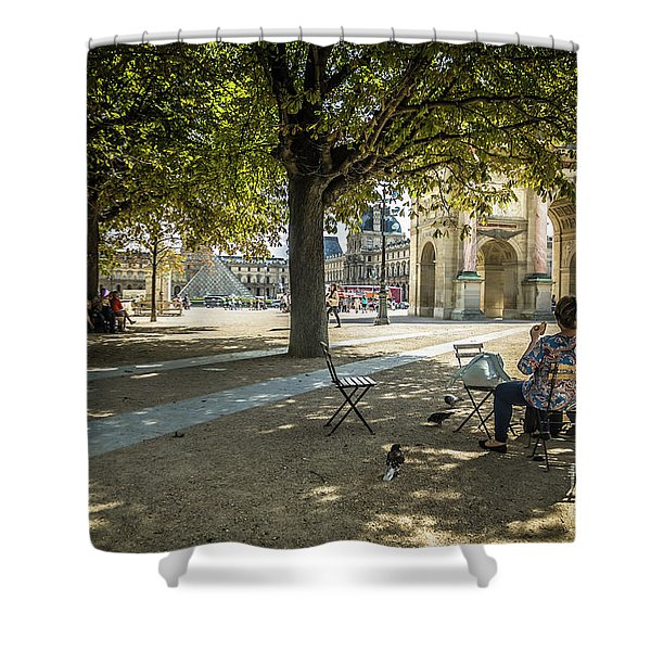 Relaxing Afternoon In Paris Shower Curtain