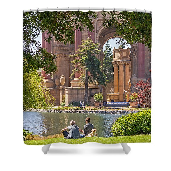 Relaxing At The Palace Shower Curtain