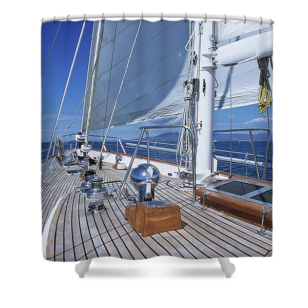Relaxing On Deck Shower Curtain