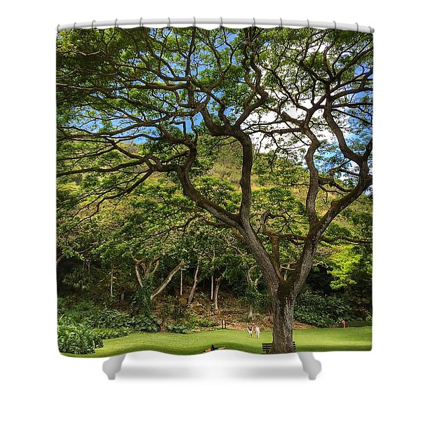 Relaxing Under The Tree Shower Curtain