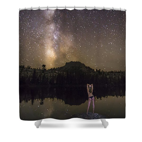 Release Your Problems Shower Curtain