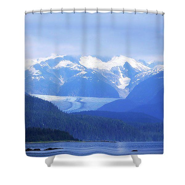 Remains Of A Glacier Shower Curtain