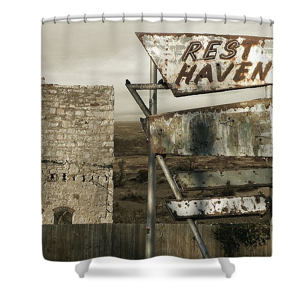 Remember The Mother Road Shower Curtain