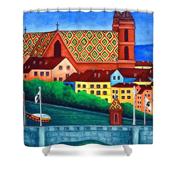 Remembering Basel Shower Curtain