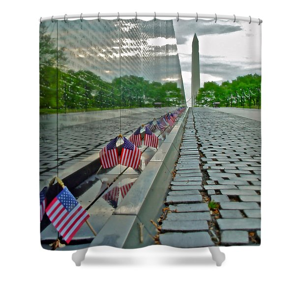 Remembrance Of Patriotism Shower Curtain
