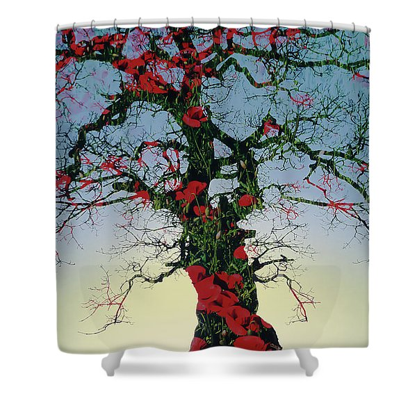 Remembrance Tree Shower Curtain