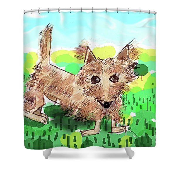 Remy, Laird Of The Cairn Shower Curtain