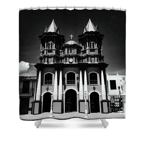 Replica Church In El Penol Shower Curtain