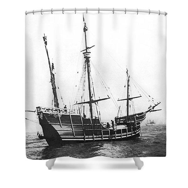 Replica Of Columbus's Nina Shower Curtain