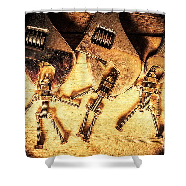 Reprogramming Centre Shower Curtain