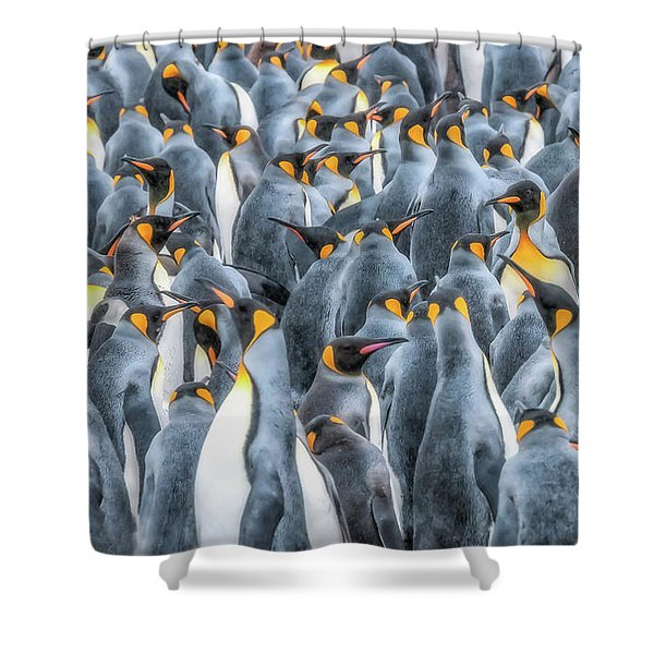 Republicans Discussing Climate Change. Shower Curtain