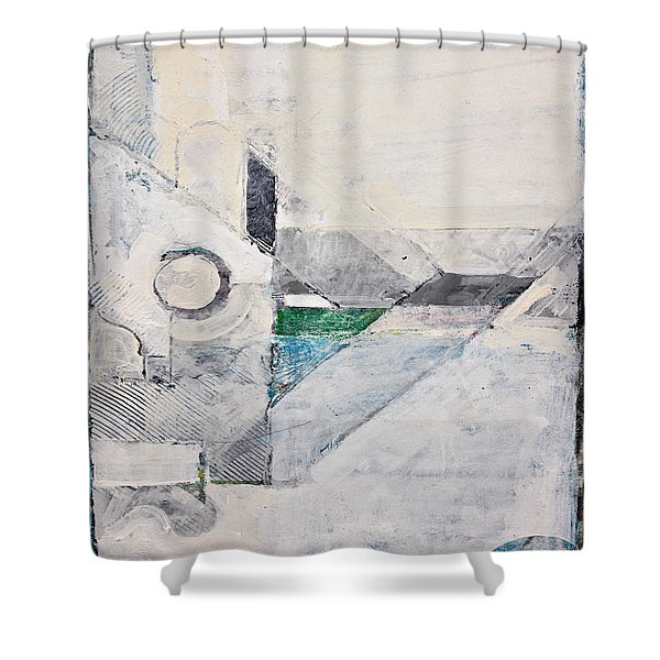 Shower Curtain featuring the painting Reservoir  by Cliff Spohn