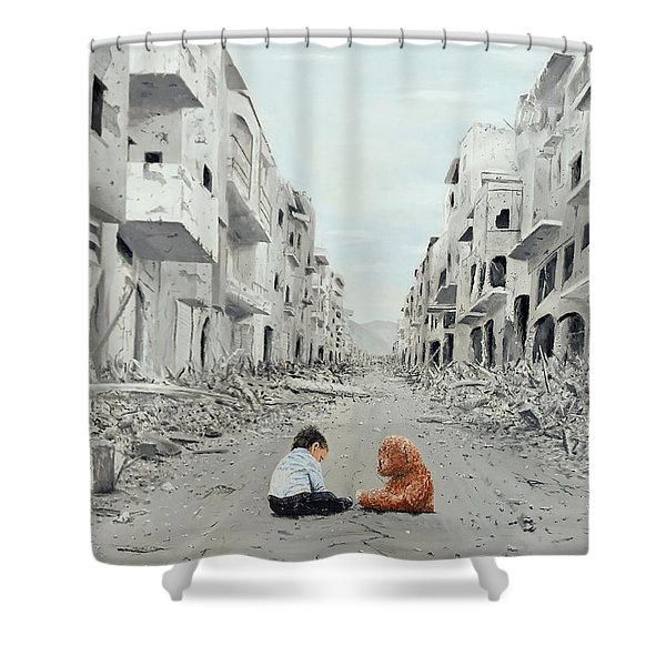 Shower Curtain featuring the painting Resilience by Kevin Daly