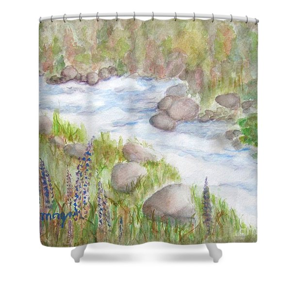 Rest By My Waters Shower Curtain