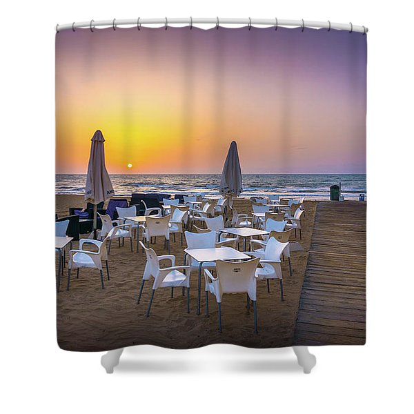 Restaurant Sunrise, Spain. Shower Curtain