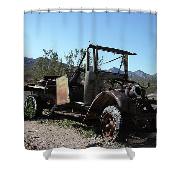 Resting And Rusting Shower Curtain