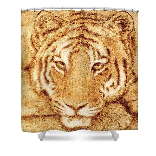 Resting Tiger Shower Curtain