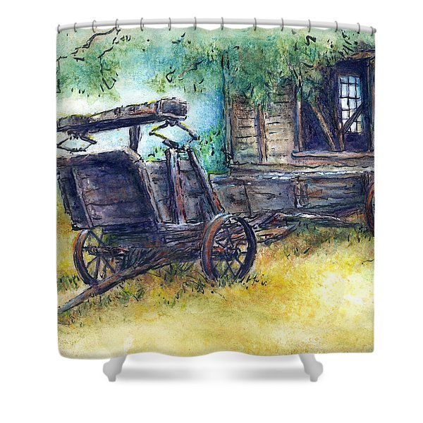 Retired At Last Shower Curtain