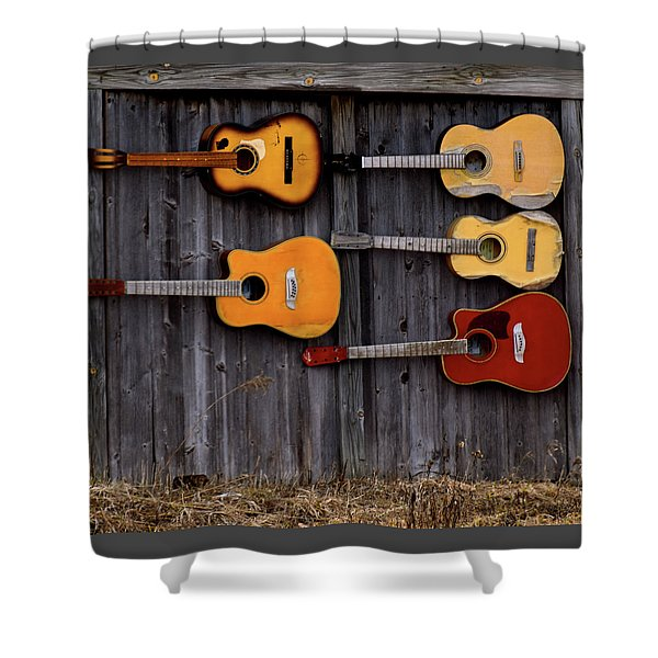 Retired Guitars  Shower Curtain