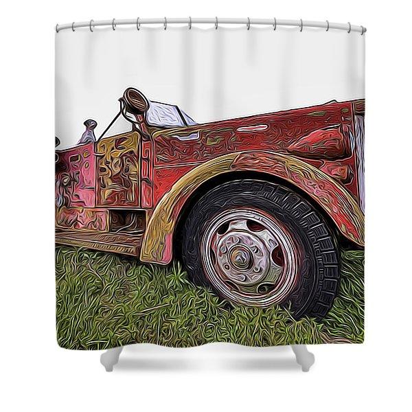 Retired Hero Shower Curtain