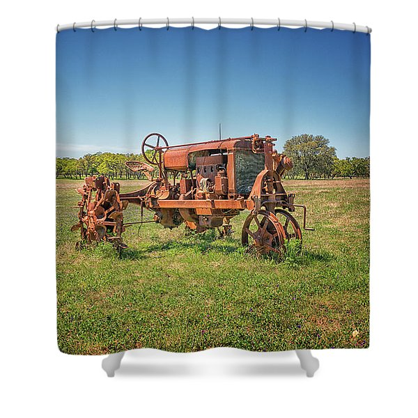 Retired Tractor Shower Curtain