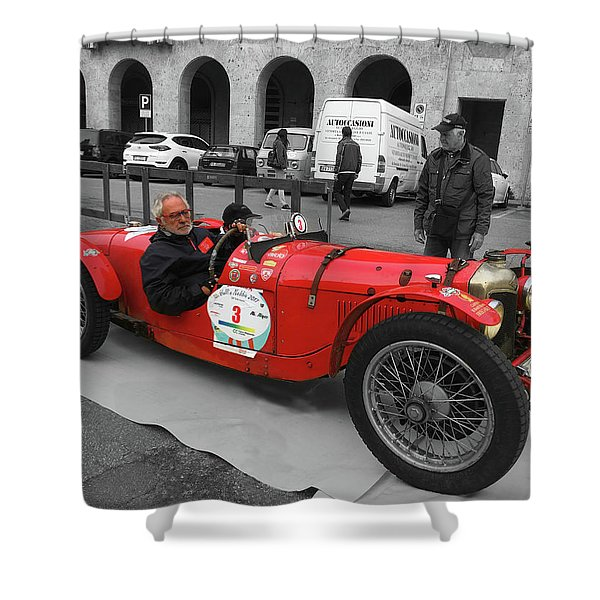 Retro Auto Fiat Balilla Shower Curtain