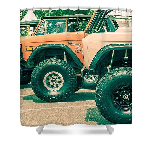 Retro Bronco Heaven Shower Curtain