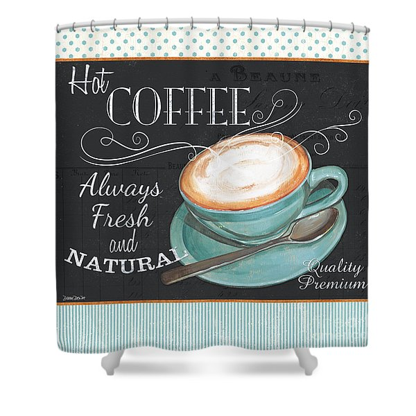 Retro Coffee 1 Shower Curtain