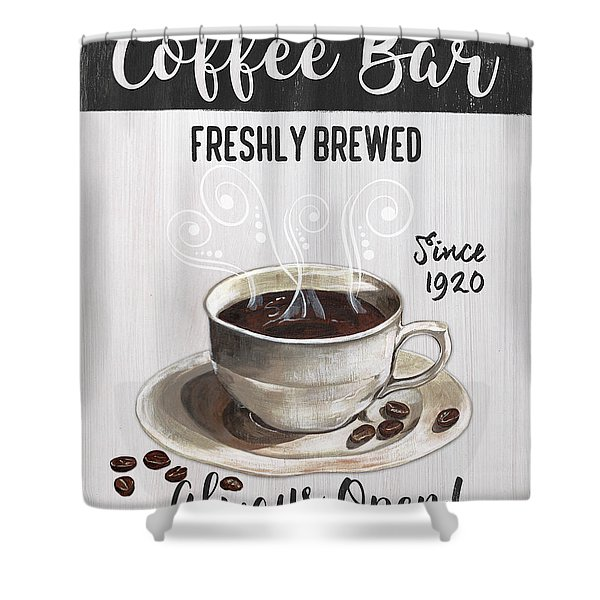 Retro Coffee Shop 2 Shower Curtain