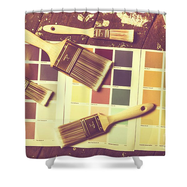 Retro Interior Design Shower Curtain