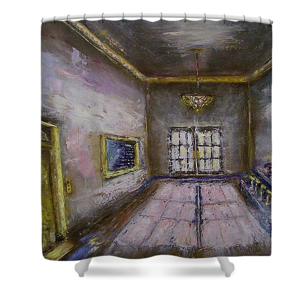 Retro Lobby Shower Curtain