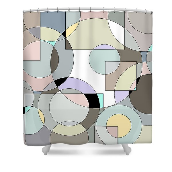 Retro Pastels  Shower Curtain